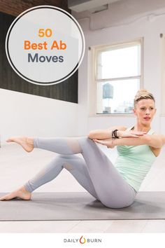 Take your core workout beyond crunches and sit-ups. These 50 ab exercises mean you never have to do the same move twice. Time to get seriously hardcore. via Daily Burn Core Workout Routine, Workout Routines For Women, Abs Workout For Women, Workout For Beginners, Workout Challenge, Barre Workout, Effective Ab Workouts, Fun Workouts, At Home Workouts
