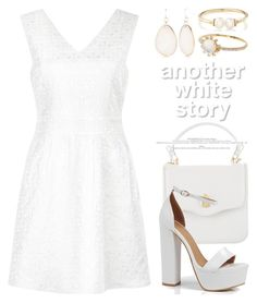 """""""White 3703"""" by boxthoughts ❤ liked on Polyvore featuring Mela Loves London, Boohoo, Kim Rogers, Loren Stewart and Nadri"""