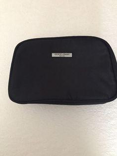 Giorgio Armani Black Satin Toiletries Cosmetic Make Up Travel Bag  | eBay