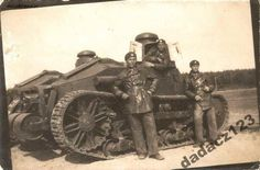 "bmashina: "" Tank ""Renault NC2"" and its Polish crew. In 1926 Poland has purchased 5 of these machines """