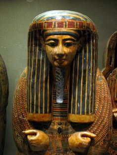 Decorated Egyptian Mummy Coffin with Crossed Hands by Bobcatnorth, via Flickr