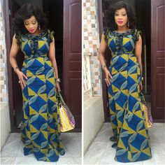 Hi Ladies, These are free flowing ankara gowns you cant resist but to rock on daily basis. Select a style for your ankara fabrics and you will not be disapoi. African Print Dresses, African Dresses For Women, African Attire, African Wear, African Fashion Dresses, African Women, Ghanaian Fashion, African Prints, African Style