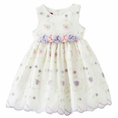 Princess Faith Floral Embroidered Dress - Toddler