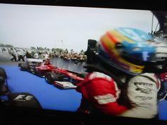 Saludando a Alonso