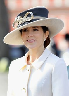 Princess Mary Photos: The Prince Of Wales And Duchess Of Cornwall Visit Denmark - Day Three Philip Treacy Hat.