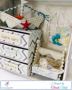 Hello people. Chirali this side with a very cute project, a Baby Box with Charming Prince Pack of Nakshathra Designz. Such a pretty set o...