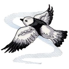 Free Embroidery Design: Snow Bunting                              …