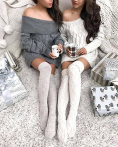 Socks: tumblr knee high knitted high sweater white sweater grey sweater cable knit white cable knit