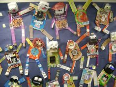 recycled bulletin board We are making these...i'm saving cereal boxes and other boxes right now...for later in the spring... g.
