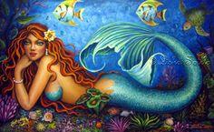 Mermaid art by Lisha Sotelo