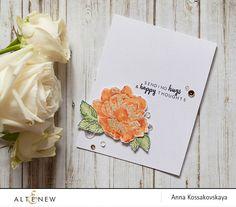 Hugs and happy thoughts card @akossakovskaya @altenew #cardmaking #altenew