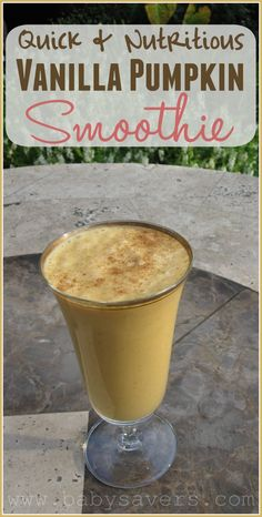 The perfect vanilla pumpkin smoothie recipe. Quick, easy and nutritious!
