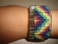 safety pin chevron bracelet