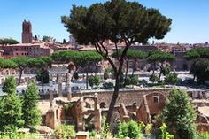 Ruins of Thermes de Caracala in Rome Stock Photography