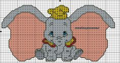 schema Dumbo punto croce 32 punti