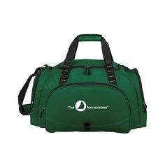 Navigators Challenger Team Dark Green Sport Bag. Additional colors available at http://www.navigatorstores.com/navigator_store__duffles_totes_and_backpacks.