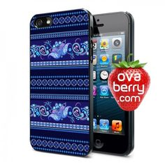 Blue Ethnic Pattern iPhone and Samsung Galaxy Phone Case