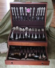 103pc Gorham, King Edward Sterling Silverware, Service, Salt Spoons- 122 Troy Oz - $1,514 Silverware Sets, Sterling Silverware, Flatware Set, Troy, Spoons, Salt, King, Salts, Cutlery Set