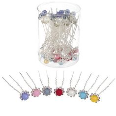 Rhinestone Bordered Imitation Pearl Hair Pins - Assorted Colors ** Visit the image link more details. Pearl Hair Pins, Hair Health, Image Link, Pearls, Detail, Colors, Stuff To Buy, Beading, Beads