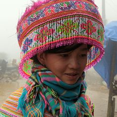 Northern Vietnam   Portrait of a Hmong, also known as the Miao, woman   ©Walter Callens