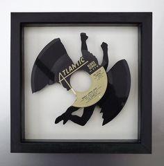 Led Zeppelin Whole Lotta Love Swan Song Vinyl by TolhurstVinylArt