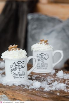 - My happy kitchen & lifestyle Christmas Coffee, White Christmas, Christmas Home, Rivera Maison, Happy Kitchen, Christmas Party Food, Kakao, Hot Chocolate, The Hamptons