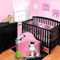 Baby Zebra Cartoon Girl Zebra Jungle Animal Nursery Wall