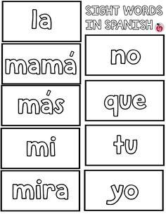 Practice Spanish Sight Words: Free Printable Bingo - LadydeeLG