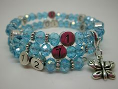 Lactobijou papillon bleu ciel irisé Ciel, Bracelets, Jewelry, Fashion, Blue Butterfly, User Guide, Hand Made, Papillons, Beads