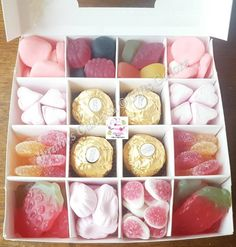 Happy Mother's Day Personalised Ferrero Rocher & Sweets Gift Box, Candy Pick n Mix Sweet Boxes, Gift for Mum/Her Gifts For Mum, Gift For Lover, Fererro Rocher, Halal Sweets, Ferrero Rocher Chocolates, Sweet Cones, Sweet Box, Chocolate Bouquet, Gift Cake