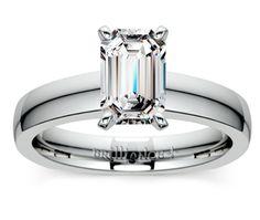 Emerald Rocker (European) Solitaire Engagement Ring in Platinum http://www.brilliance.com/engagement-rings/rocker-solitaire-ring-platinum