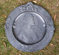 Large WMF pewter Art Nouveau wall charger by SimonCurtisAntiques