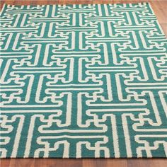 Grecian Maze Dhurrie Rug: 9 Colors