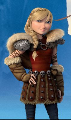 ~ Astrid all grown up; now Hiccup's girlfriend in How To Train Your Dragon, Part…