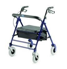 """1 EACH OF Bariatric Rollator 400 lb weight capacity by Invacare Corporation. $97.80. INVACARE CORPORATION Bariatric Rollator New and improved featuring new height adjustable, ergonomic handles with easy-to-operate hand brakes that lock the rear wheels. Wide, deep durable steel construction frame with reduced overall width designed to fit easily through standard household doorways. Flip-up 2"""" foam padded seat 18""""Wx14""""D with zipper compartment on the underside and spacious pou..."""