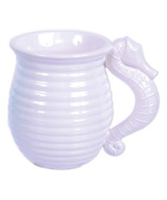 Look what I found on #zulily! White Ceramic Seahorse Mug #zulilyfinds