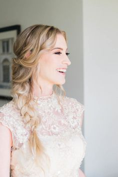 Ivory Lace with Detail Wedding Gown from Something New Bridal Boutique - Bohemian Gatsby Inspired Wedding - Photo by Jamie Reinhart Photography - Kraft Azaela Gardens Wedding in Winter Park, FL - click pin for more - www.orangeblossombride.com