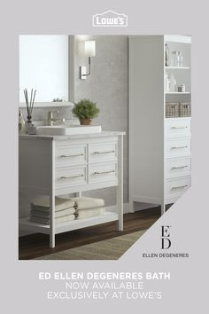 Explore modern and stylish bathroom vanities from ED Ellen Degeneres Bath available exclusively at Lowe's.