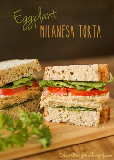 Eggplant Milanesa Torta by Dizzy Busy and Hungry