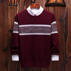 O-Neck Mens Sweaters Pullovers Striped Cotton Sweater Men Casual Japan Style Long Sleeve for Masculino Sweater Jacket, Men Sweater, Japan Fashion, Mens Fashion, Male Sweaters, Cotton Sweater, Long Sleeve Shirts, Men Casual, Pullover
