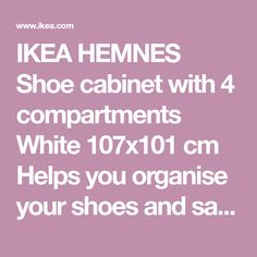 b1a0074832ae5b HEMNES Shoe cabinet with 4 compartments White IKEA
