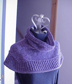 Soft Shoulder Cowl/Shawl By Kris Basta - Kriskrafter, LLC - Free Knitted Pattern - (ravelry)