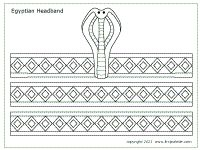 Free Printable Egyptian Headband Templates To Color Cut And Assemble Into A Wearable Paper Headdress