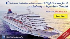 Get a chance to win a 3-night cruise for 2 onboard SuperStarGemini. Promo is valid until 31st March only! Join now!