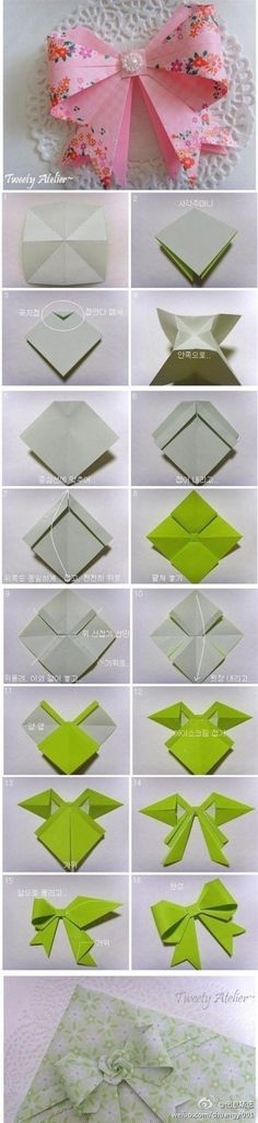 How to fold a origami ribbon