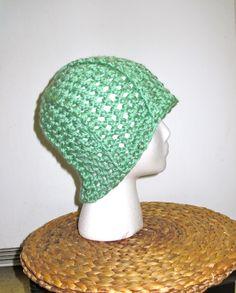 Crochet Beanie: sage green