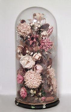 American Victorian accessories bell jar glass