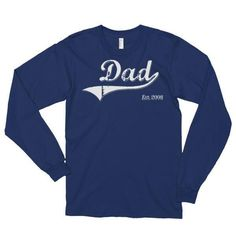 Dad Est 2008 Long sleeve (unisex) T-Shirt