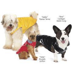 dog rain slicker reversible