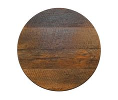 Round Reclaimed Barn Wood Restaurant Table Top   Crafted From Reclaimed Oak  Barn Wood, This Inch Thick Rustic Table Top Has No Shortness.